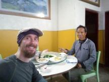 This man was on a motorbike and rode with me for some 10KMs,,and then, although not speaking English, bought me dinner and insisted I take 100RMBs.