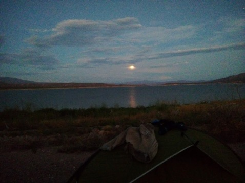 #6 Full moon on the banks of Lake Roosevelt