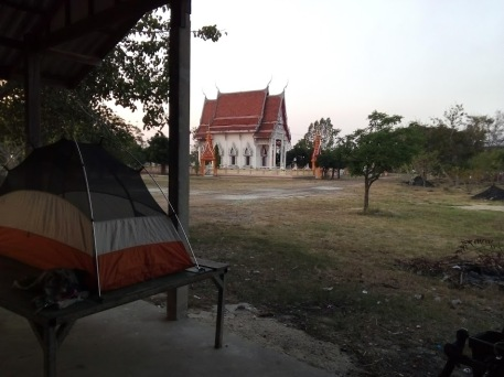 If I had chosen to stay in hotels the past week I would have never knocked on the door of this temple and had a wonderful experience camping and connecting with the monks I met