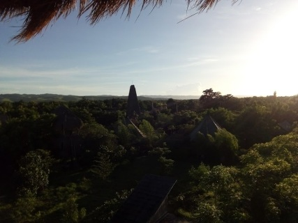 Overlooking the campus at Sumba Hospitality Foundation